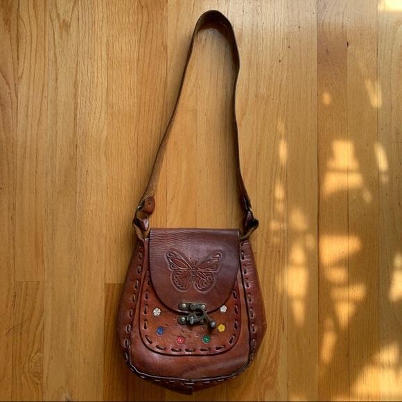 Vintage Handbags - Vintage Leather Butterfly Bag